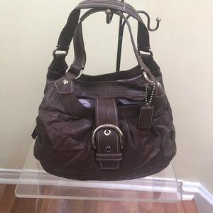 COACH Soho Hobo Shoulder Bag leather Brown pockets